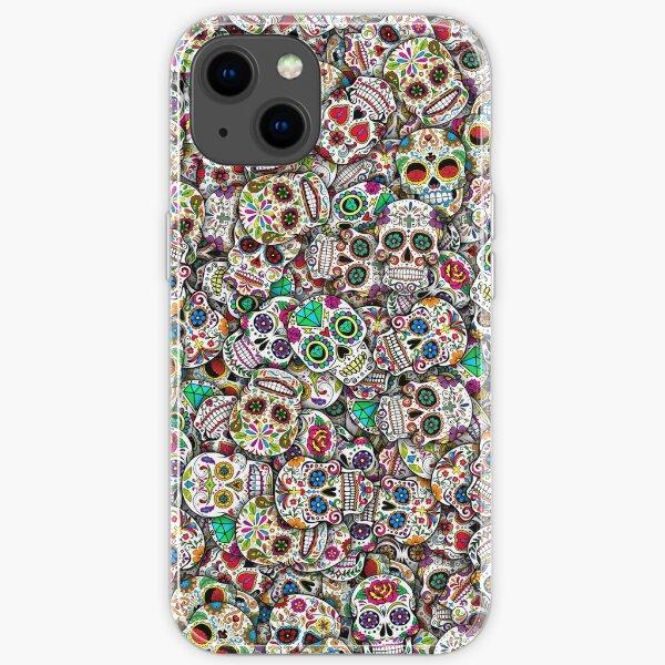 Mexican sugar skulls iPhone Soft Case
