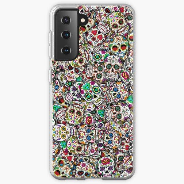 Mexican sugar skulls Samsung Galaxy Soft Case