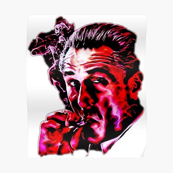 Robert De Niro smoking mafia gangster movie Goodfellas painting Poster