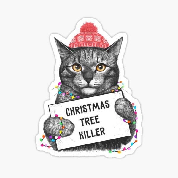 Christmas tree killer Sticker