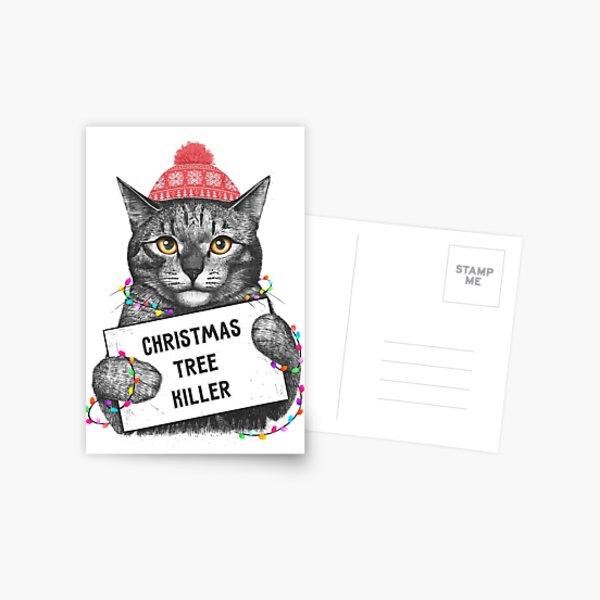 Christmas tree killer Postcard