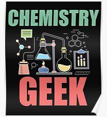 Chemistry Geek Funny Design Poster