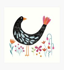 The Bird with the Fancy Tail Art Print