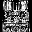Notre Dame in light by siloto