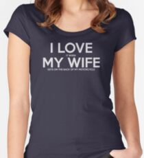 I Love it when MY Wife Gets on The Back of my Motorcycle New Product Women's Fitted Scoop T-Shirt