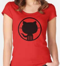 Popular Github Linux Merb Ruby GEEK programmer LM325 Best Trending Women's Fitted Scoop T-Shirt