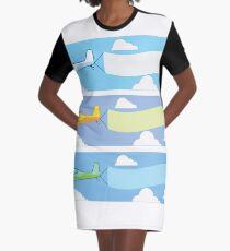 Airplane advertising Graphic T-Shirt Dress