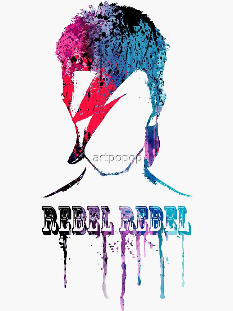ROCK N ROLL STAR # blau / rot von artpopop