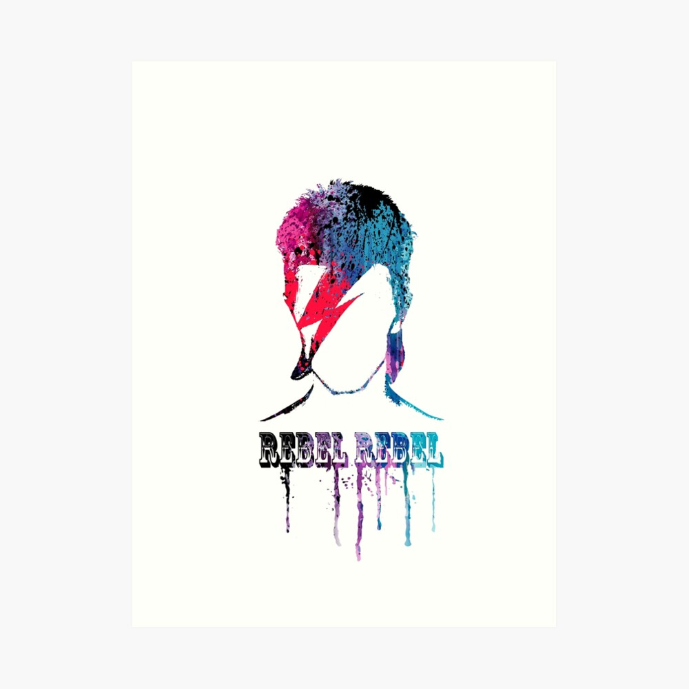 ROCK N ROLL STAR # blau / rot Kunstdruck