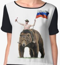 Putin Vodka Bear Tracksuit Hardbass Chiffon Top