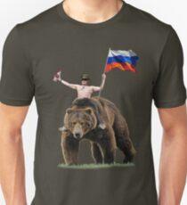 Putin Vodka Bear Tracksuit Hardbass Unisex T-Shirt