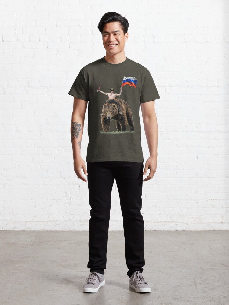 Alternate view of Putin Vodka Bear Tracksuit Hardbass Classic T-Shirt