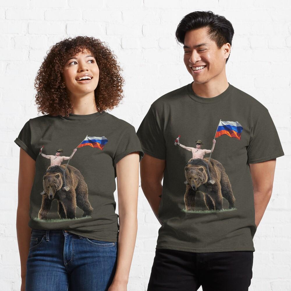 Putin Vodka Bear Tracksuit Hardbass Classic T-Shirt