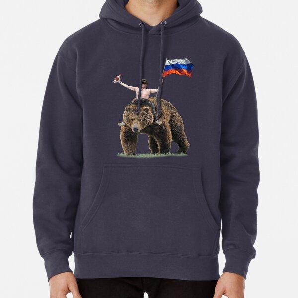 Survêtement Poutine Vodka Bear Hardbass Sweat à capuche épais