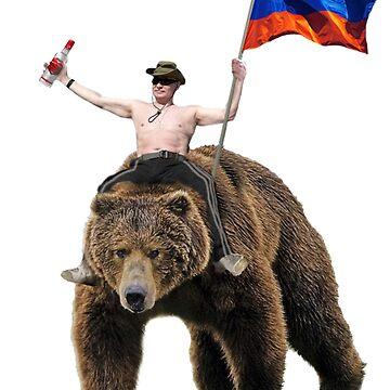 Putin Vodka Bear Tracksuit Hardbass by Dipardiou