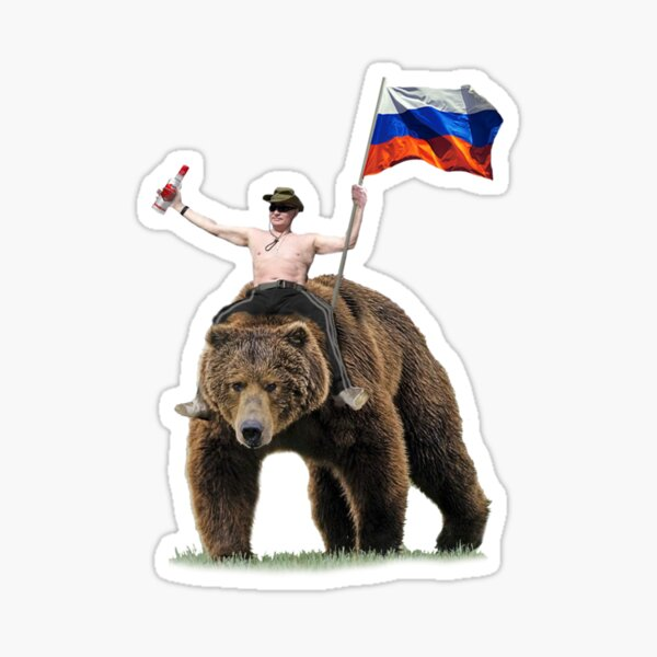 Putin Vodka Bear Tracksuit Hardbass Sticker