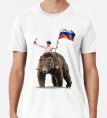 Putin Wodka Bär Trainingsanzug Hardbass Männer Premium T-Shirts