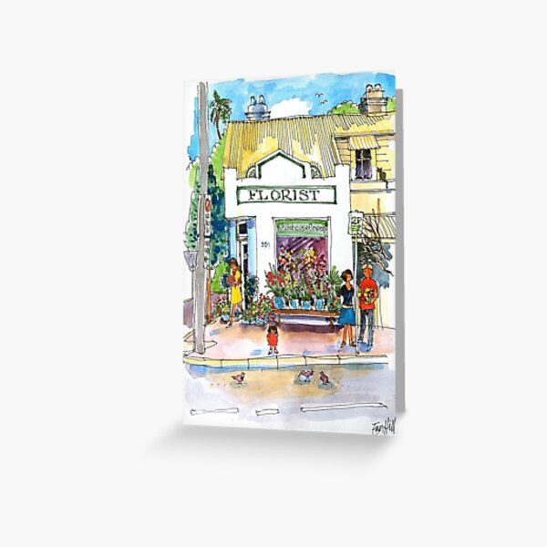 Florist on Pittwater Road, Manly, Sydney Greeting Card