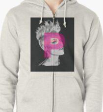 Pink Zipped Hoodie