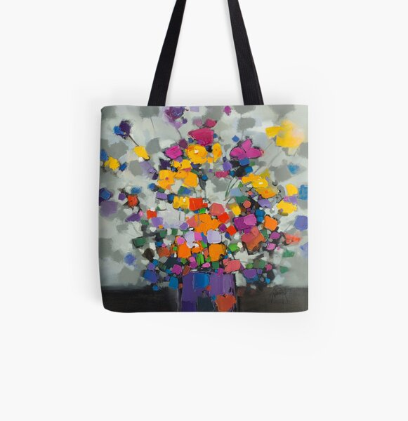 Floral Spectrum 2 All Over Print Tote Bag