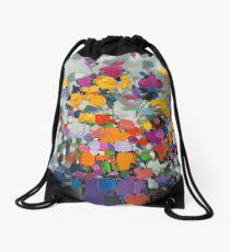 Floral Spectrum 2 Drawstring Bag