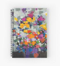 Floral Spectrum 2 Spiral Notebook