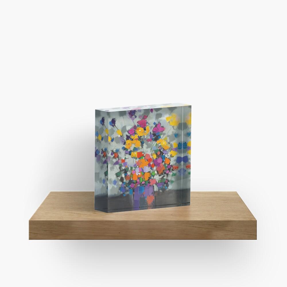 Floral Spectrum 2 Acrylic Block