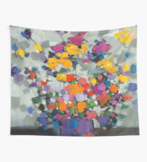 Floral Spectrum 2 Wall Tapestry