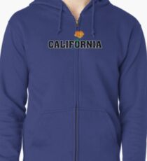 California the Golden State Zipped Hoodie