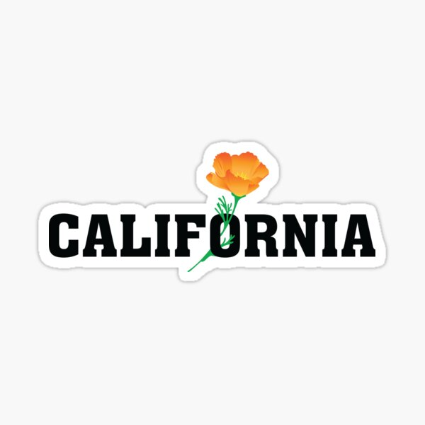 California the Golden State Sticker