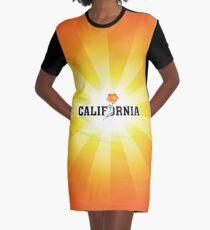 California the Golden State Graphic T-Shirt Dress