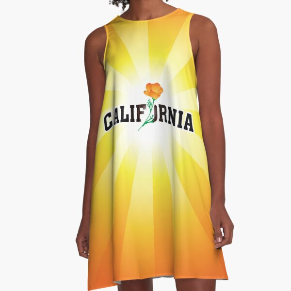California the Golden State A-Line Dress