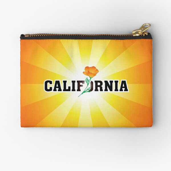 California the Golden State Zipper Pouch
