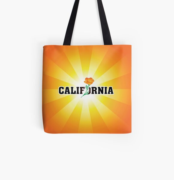 California the Golden State All Over Print Tote Bag