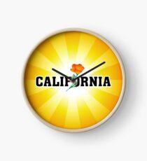 California the Golden State Clock