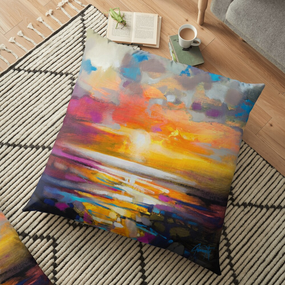 Vivid Light 1 Floor Pillow