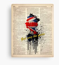 GOD SAVE THE QUEEN on dictionary page Canvas Print