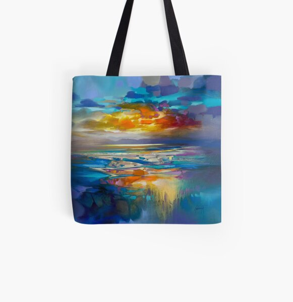 Liquid Cyan  All Over Print Tote Bag