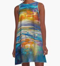 Liquid Cyan  A-Line Dress