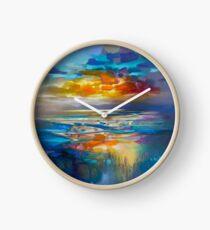 Liquid Cyan  Clock