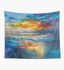 Liquid Cyan  Wall Tapestry