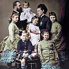 Hesse and by Rhine family in 1876. Queen Victoria's 23rd grandchild, Princess Alix of Hesse and by Rhine, is remembered best as Alexandra Feodorovna, the last Empress of Russia. by Marina Amaral