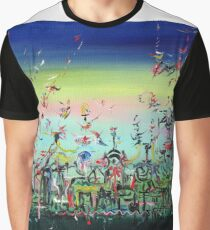 CROWDED AND LIVING Graphic T-Shirt