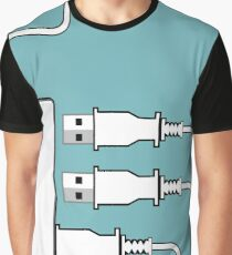 USB hub Graphic T-Shirt