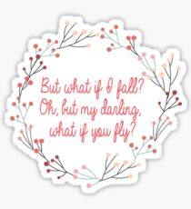 What if you fly |  Peter Pan | Movie Quote Sticker