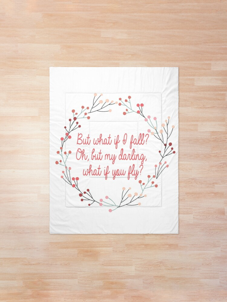 Alternate view of What if you fly |  Peter Pan | Movie Quote Comforter