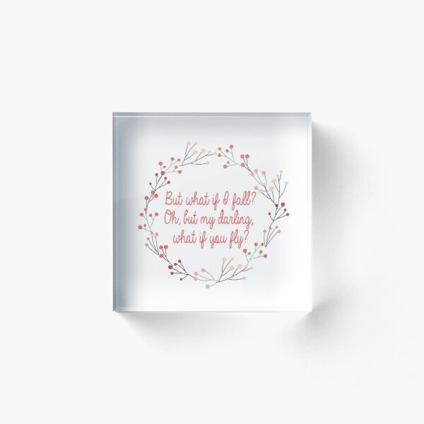 What if you fly |  Peter Pan | Movie Quote Acrylic Block