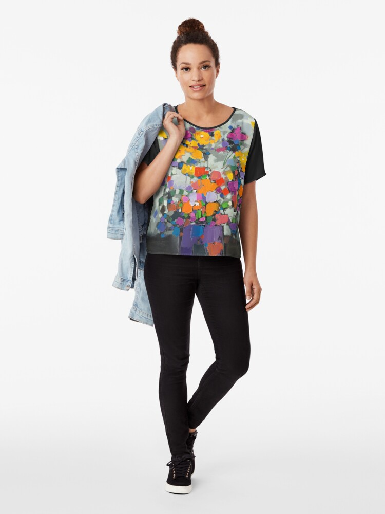 Alternate view of Floral Spectrum 2 Chiffon Top