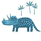Triceratops Dinosaur by Nic Squirrell