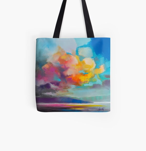 Vapour All Over Print Tote Bag